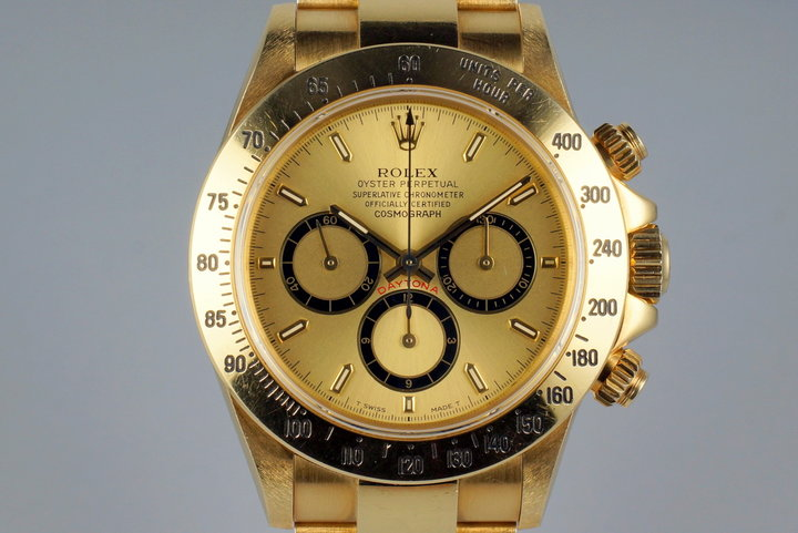 1990 Rolex YG Zenith Daytona 16528 photo