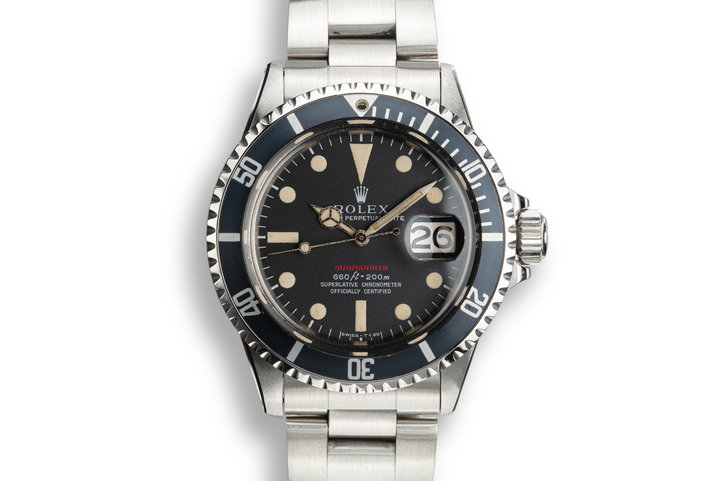 1970 Rolex Red Submariner 1680 with MK IV Dial photo