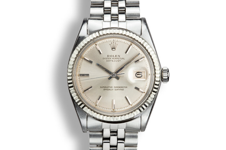 "1964 Rolex DateJust 1601 with ""SWISS"" Only Silver Dial photo"
