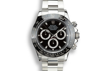 2017 Rolex Daytona 116500LN Black Dial with box and papers photo