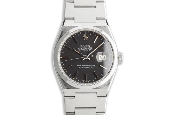1981 Vintage Rolex OysterQuartz DateJust 17000 Black Dial photo