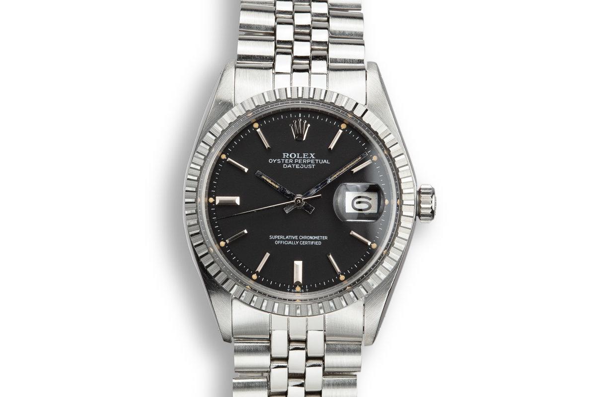 1973 Rolex DateJust 1601 Black Dial photo, #0