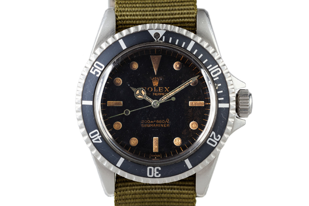 1963 Rolex Submariner PCG 5513 with Underline Swiss Only Gilt Dial photo, #0