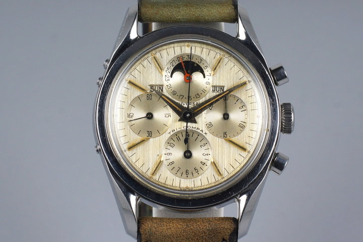 1950's Universal Geneve Tri-Compax 222100-1 Triple Date Moonphase photo