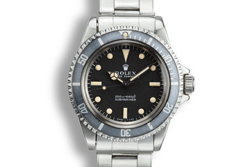 1967 Rolex Submariner 5513 with Meters First Dial photo