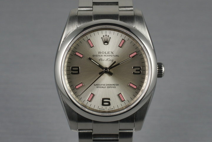 2007 Rolex Air King 114200 with Papers photo
