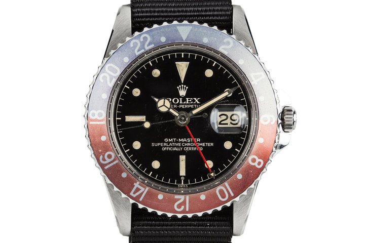 1961 Rolex GMT-Master with Gilt Chapter Ring Exclamation Dial photo