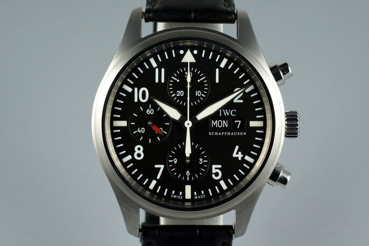 2009 IWC Pilot's Chronograph IW371701 with Box and Papers photo