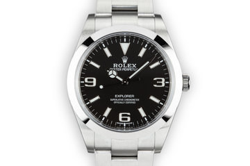 2017 Rolex 40mm Explorer 214270 with Box and Papers photo