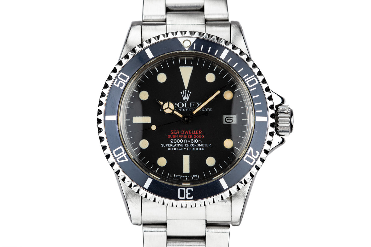 1975 Rolex Double Red Sea-Dweller 1665 MK IV Dial photo, #0