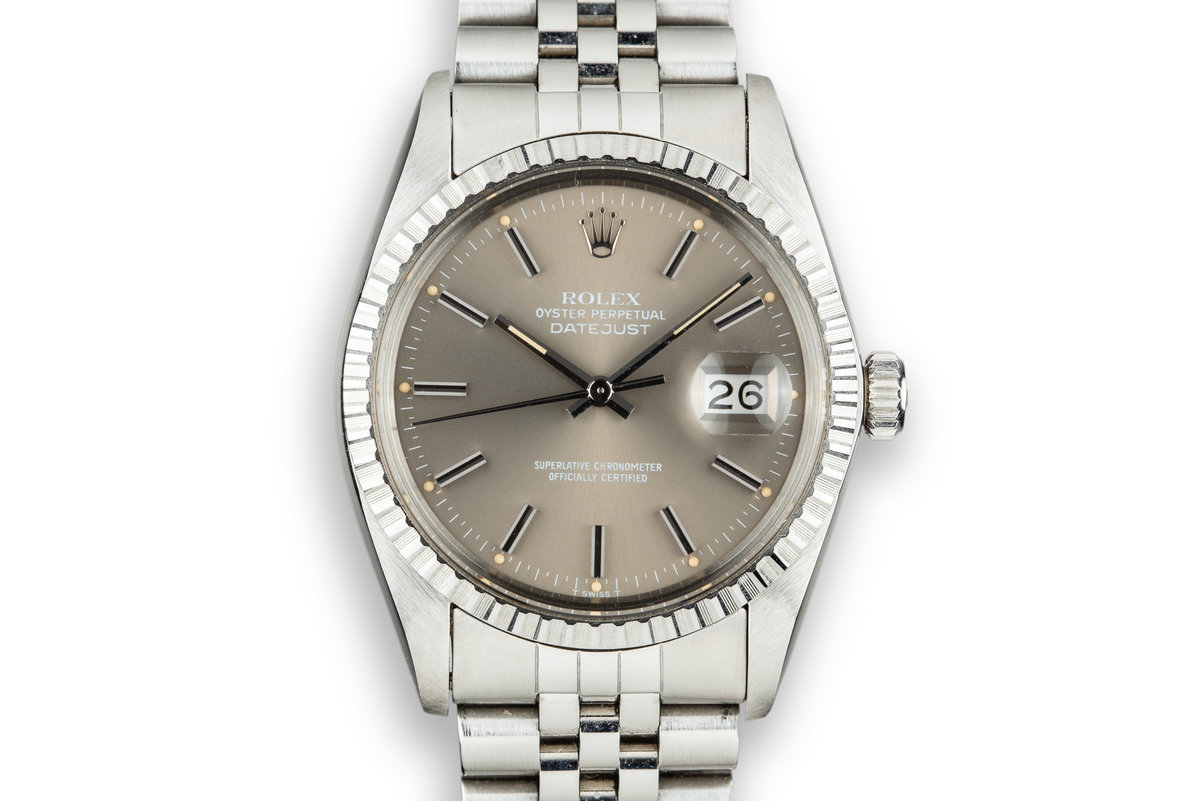 1979 Rolex DateJust 16030 Grey Dial photo, #0