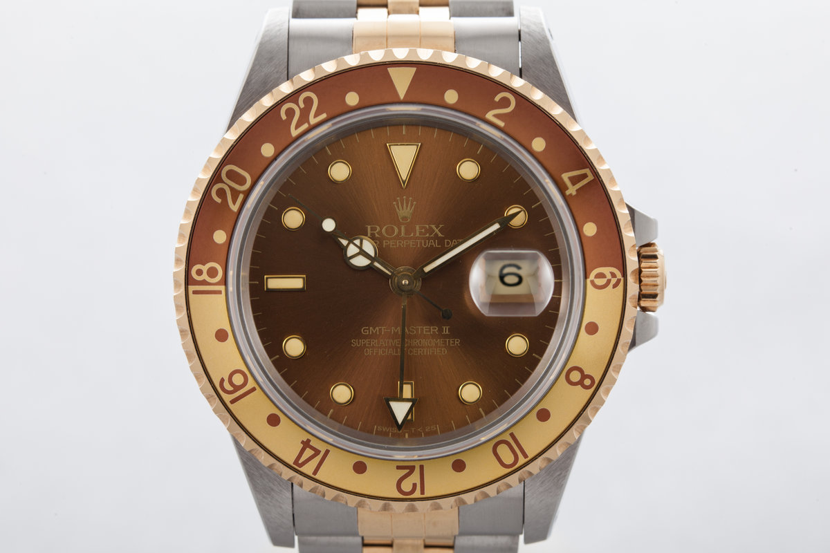 1991 Rolex Two Tone GMT II 16713 with Root Beer Dial photo, #0