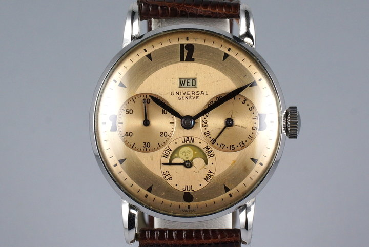 1940's Universal Geneve Calendar Moonphase 21312 photo