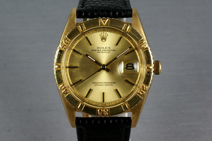 1973 Rolex 18K Gold Datejust 1625 Thunderbird photo