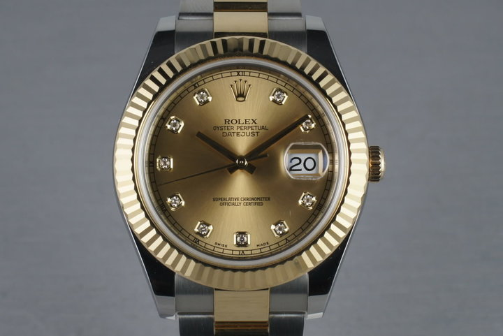 Rolex Datejust  II  116333 with Champagne Diamond Dial photo
