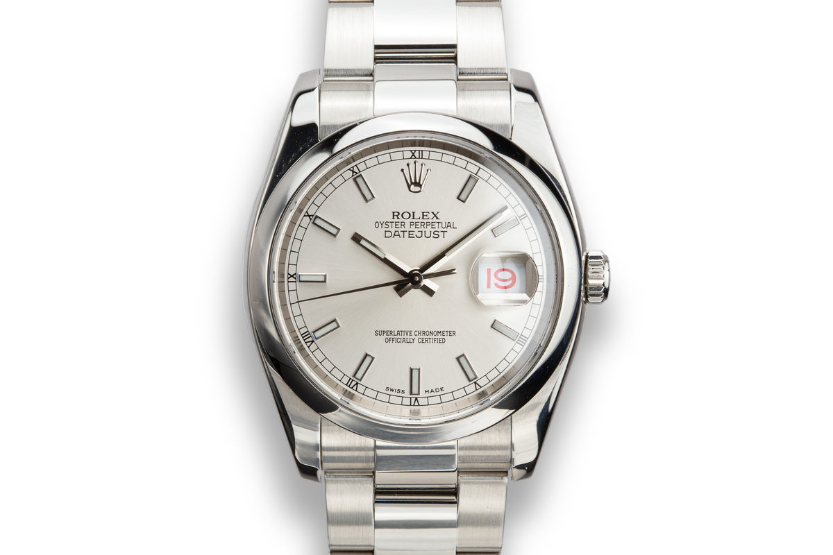 2006 Rolex DateJust 116200 Silver Dial with Roulette Date Wheel photo, #0
