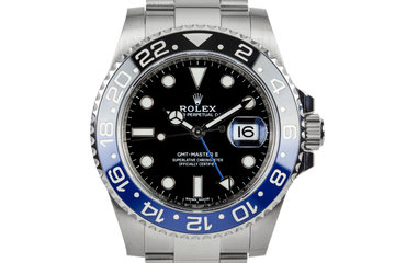 """2017 Rolex GMT-Master 116710 BLNR """"Batman"""" with Box and Papers photo"""