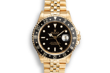 1990 18K YG Rolex GMT-Master II 16718 Black Dial photo