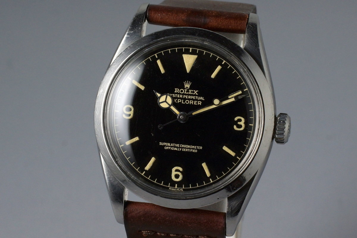 HQ Milton , 1960 Vintage Rolex Explorer 1 1016 Gilt Chapter
