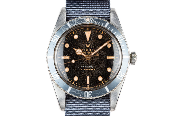 1958 Rolex Submariner 5508 with Spider Cracked Gilt Dial photo