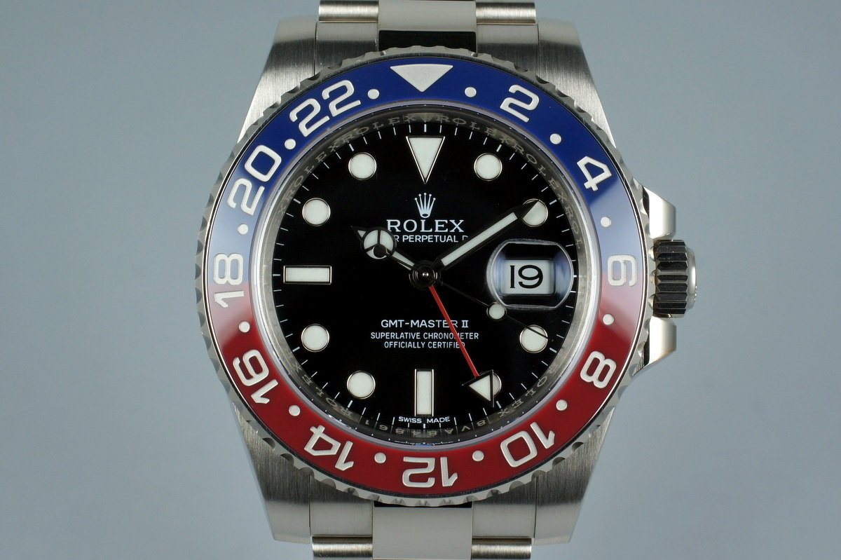 2015 Rolex WG GMT II 116719BLRO with Box and Papers photo, #0