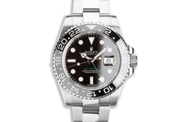 2012 Rolex GMT-Master II 116710LN Black Bezel with Box & Card photo