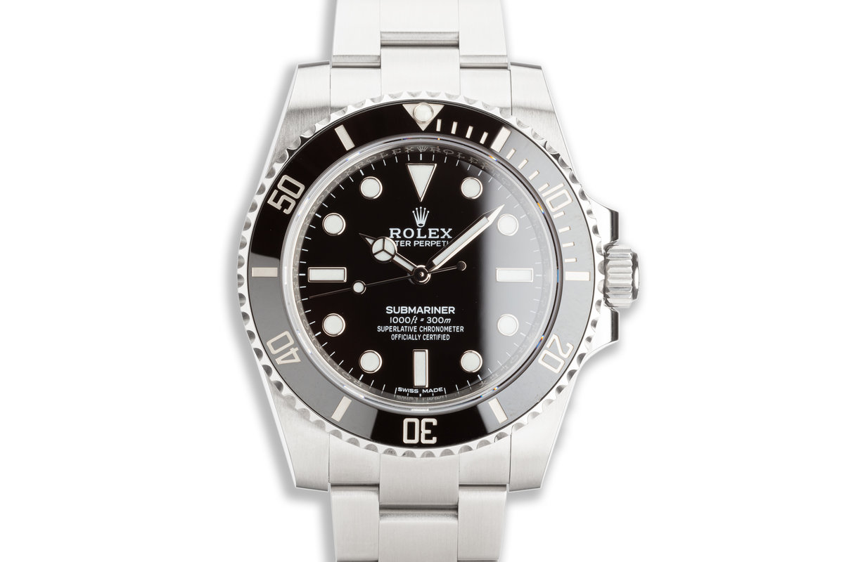 2019 Rolex Submariner No-Date 114060 with Box & Card photo, #0