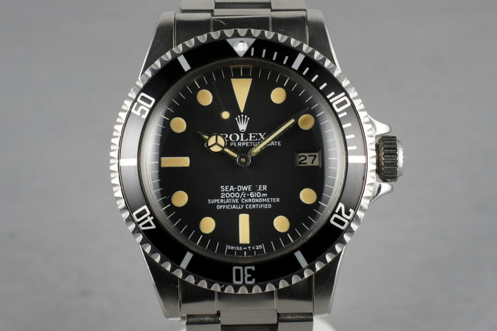 Rolex Sea Dweller 1665 with creamy luminous photo