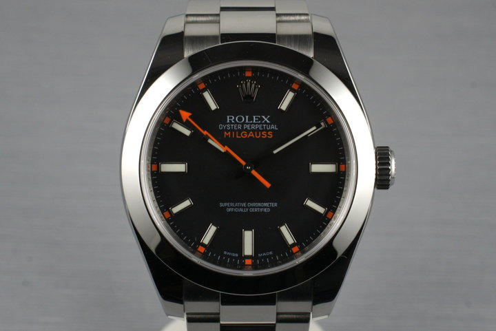 2007 Rolex Milgauss Black Dial 116400 with Box and Papers photo