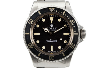 1972 Rolex Submariner 5513 with 'Non-Serif' Dial photo