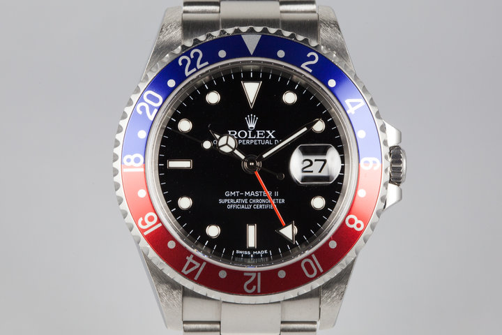 2006 Rolex GMT II 16710 Pepsi Stick Dial with Box and Papers  photo