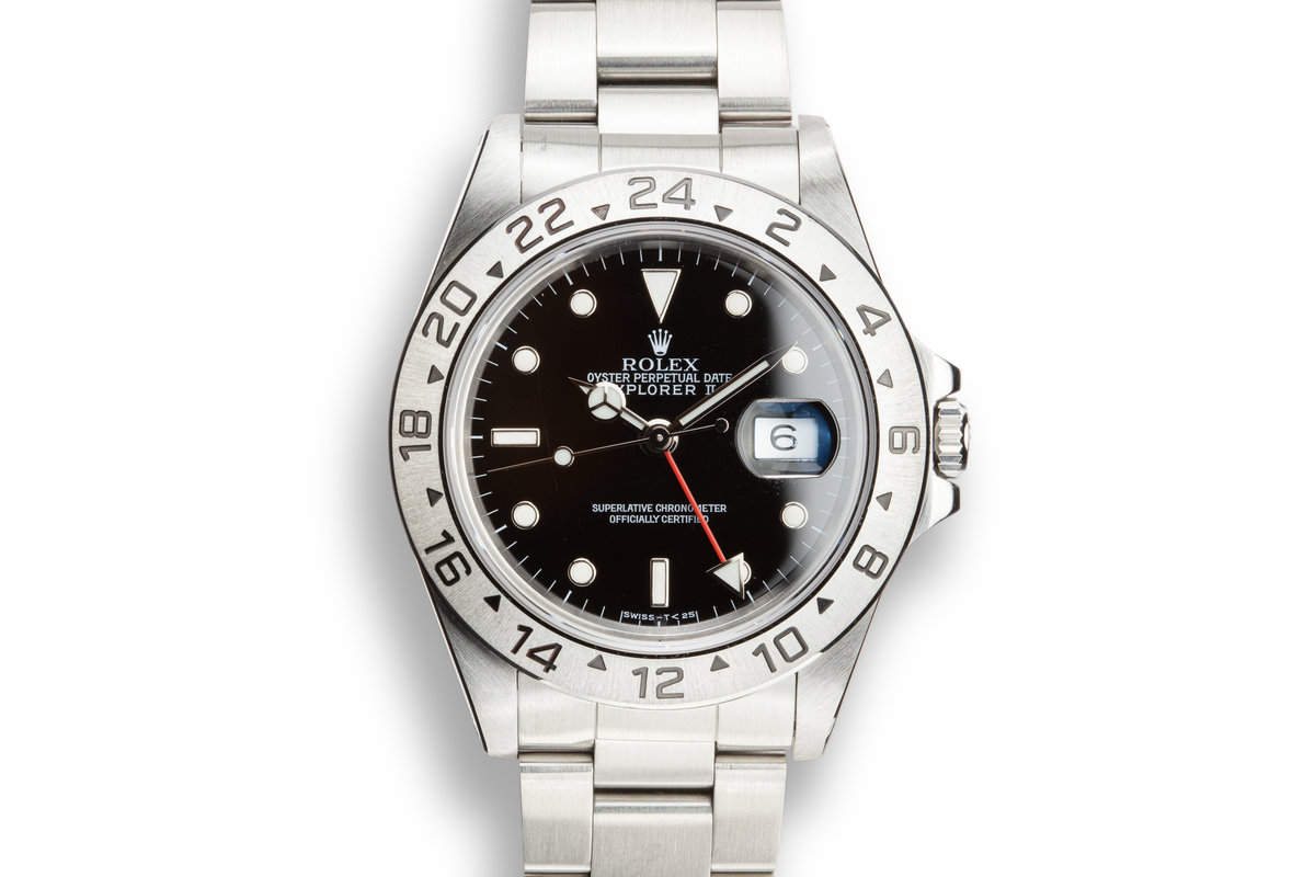1993 Rolex Explorer II 16570 Black Dial with Box and Papers photo, #0