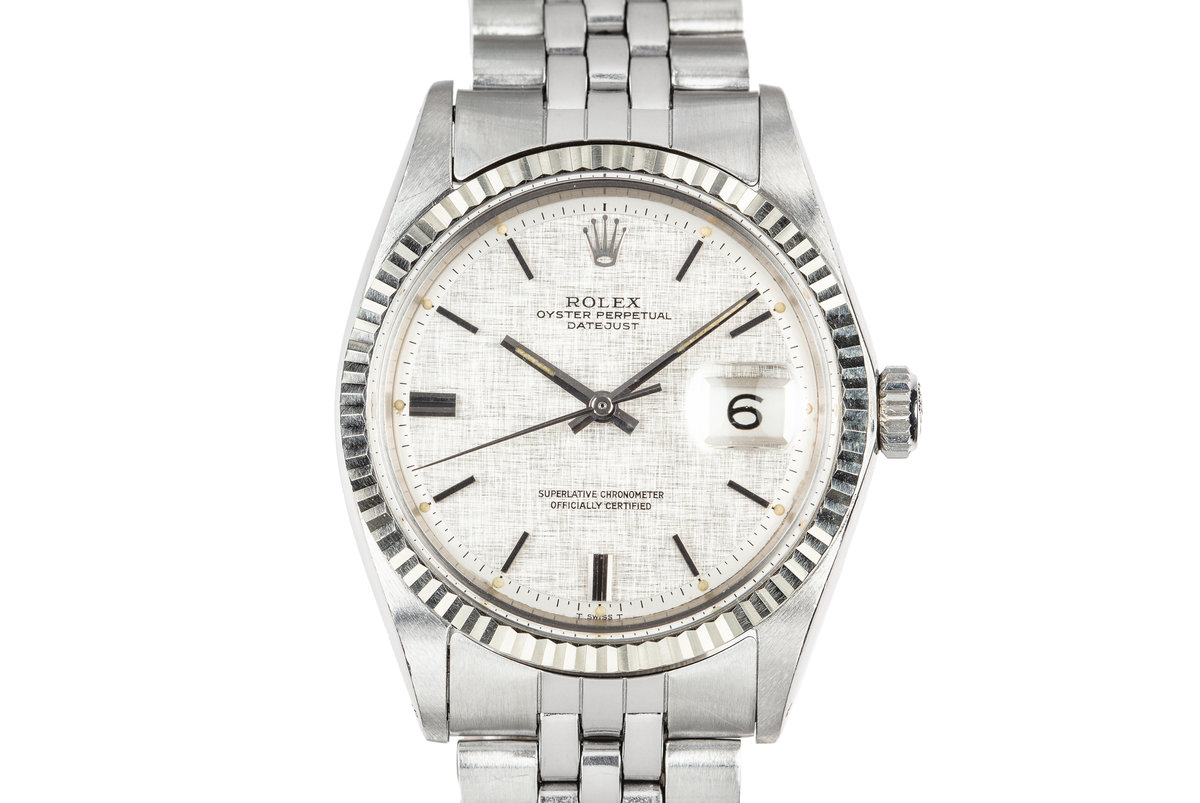1970 Rolex DateJust 1601 with Silver Linen Dial photo, #0