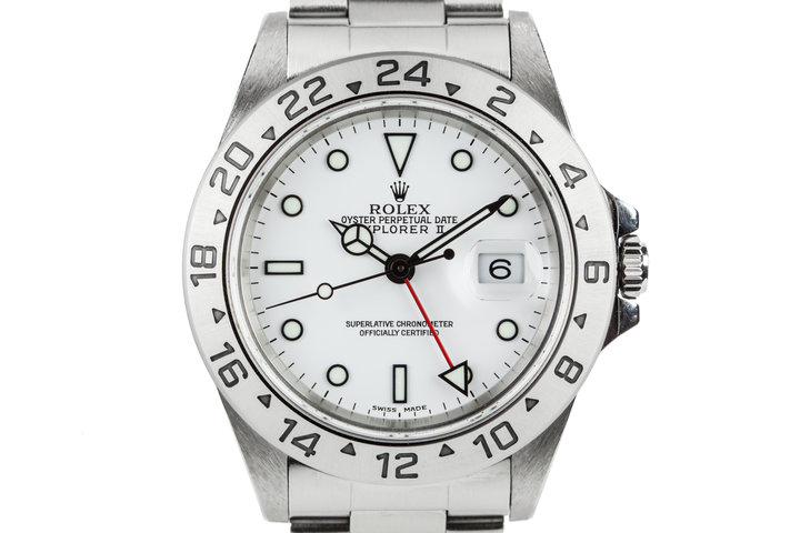 1999 Rolex Explorer II 16570 White Dial photo