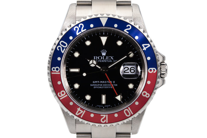 2003 Rolex GMT II 16710 wtih Box and Papers photo
