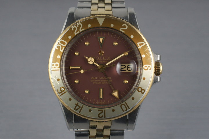 1971 Rolex Two Tone GMT 1675 Root Beer Dial photo