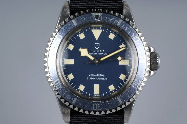 1975 Tudor Submariner 9411/0 Blue Snowflake Marine Nationale with RSC Papers photo