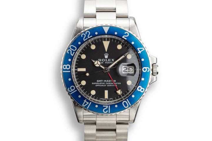 """1972 Rolex GMT-Master 1675 """"Blueberry"""" photo"""