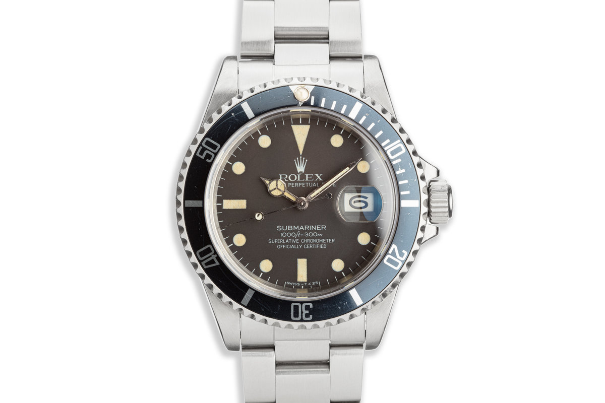 1981 Vintage Rolex Submariner 16800 with Matte Dial photo, #0