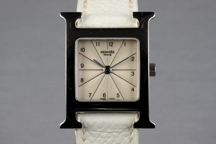 Hermes Ladies H Hour MM Watch HH1-210 photo