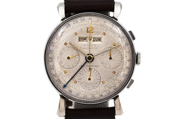 1960 Rolex Steel Datocompax Triple-Date Chronograph 4768 photo