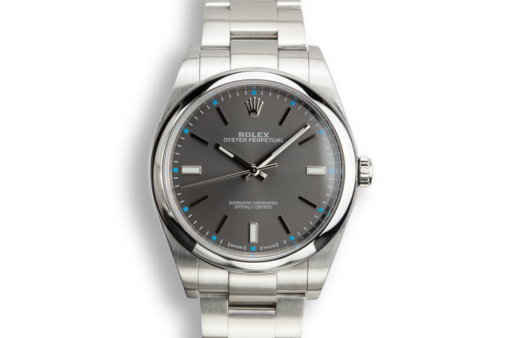 Rolex Oyster Perpetual 114300 Dark Rhodium Dial photo