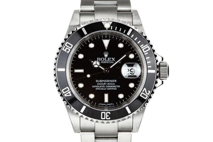 "2009 Rolex Submariner 16610 ""V serial"" photo"