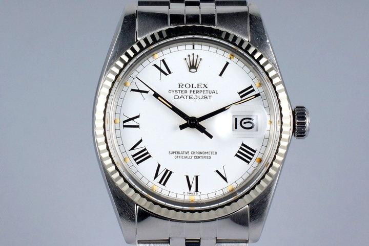1981 Rolex DateJust 16014 White Roman Dial photo