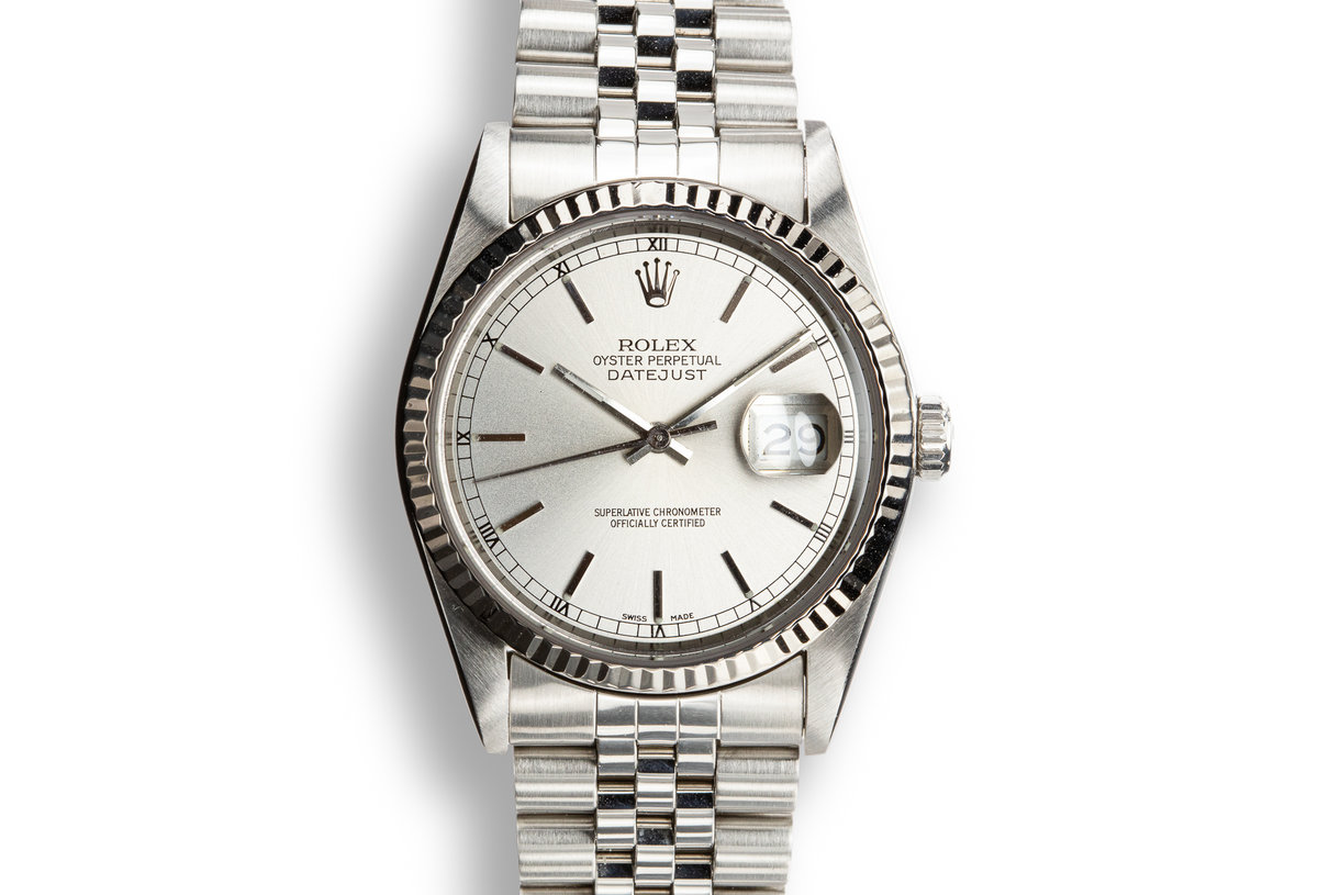 1987 Rolex DateJust 16234 Silver Dial with Box photo, #0