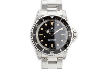 "1990 Vintage Rolex Submariner 5513 ""E"" Last Production of the 5513 with Service Box photo"