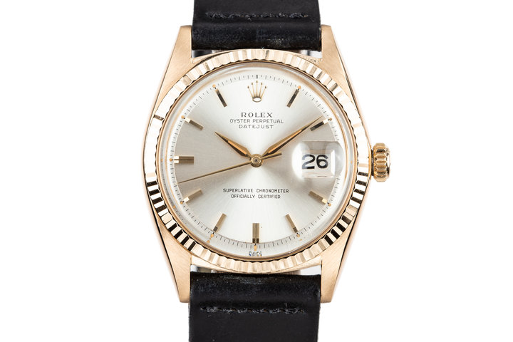 1964 Rolex 18K YG DateJust 1601 with Silver Dial photo