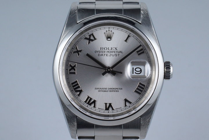 2001 Rolex DateJust 16200 with Silver Roman Dial photo