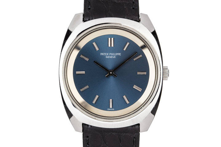 Patek Philippe Steel Calatrava 3579 Blue Dial photo