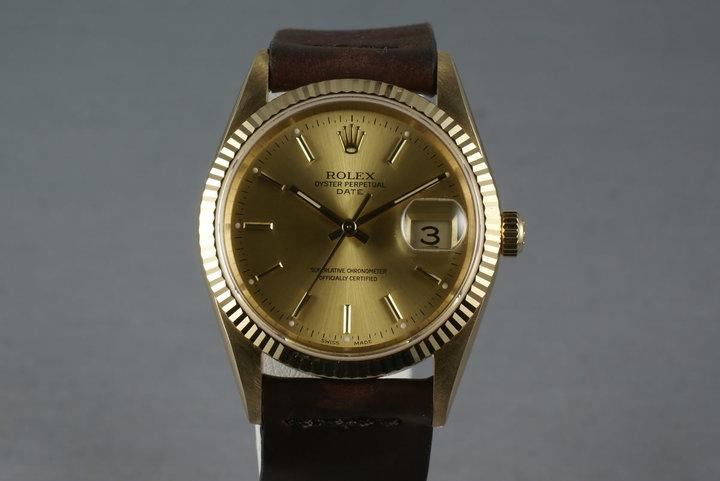 Rolex 18K Date 15238 photo